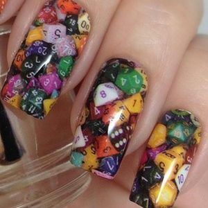 Nail wraps D20 diceBoutique for sale